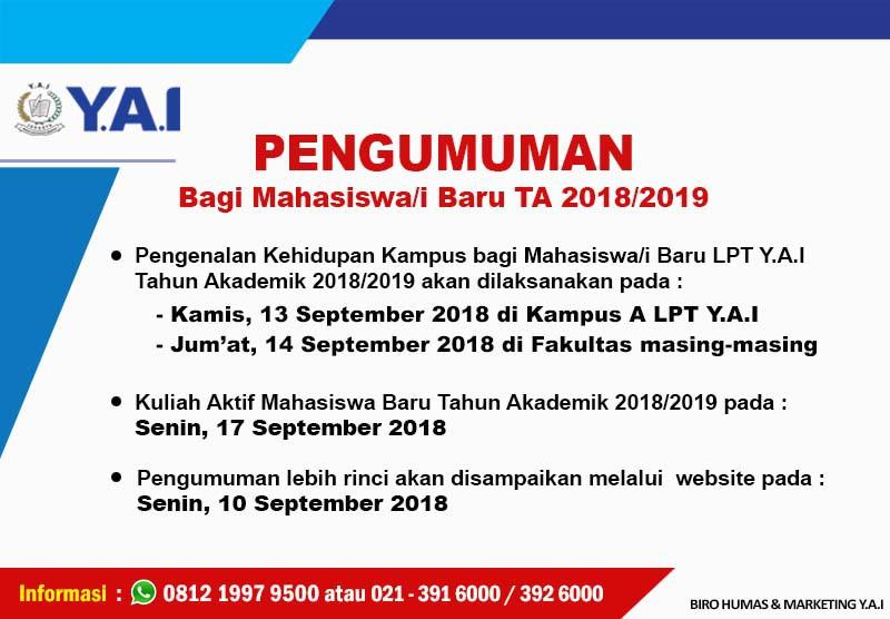 Pengenalan Kehidupan Kampus Bagi Mahasiswa/i Baru TA 2018/2019